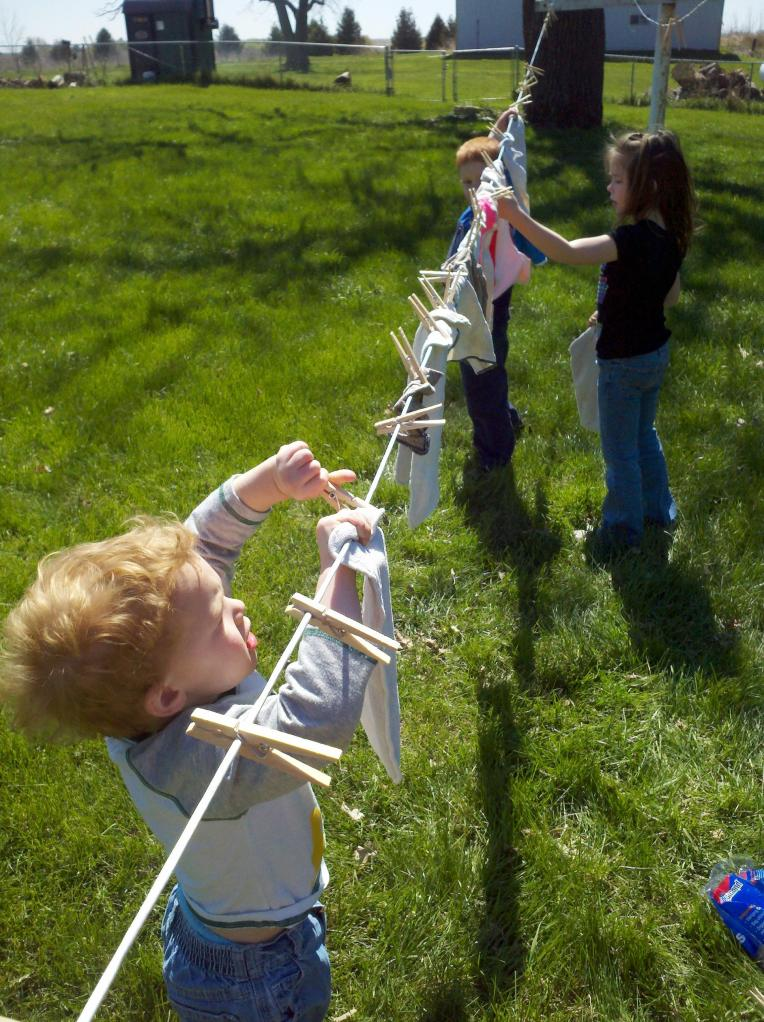 cloth diapers clothes line