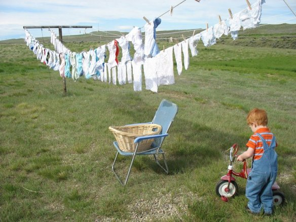 clothes line diapers