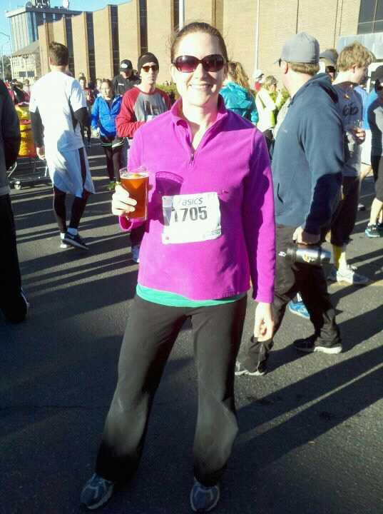 On Thanksgiving morning I ran a 5k and got to enjoy a complimentary beer afterward, all before ten in the morning.  With the proceeds going to the food bank, I think this may be my new holiday tradition!