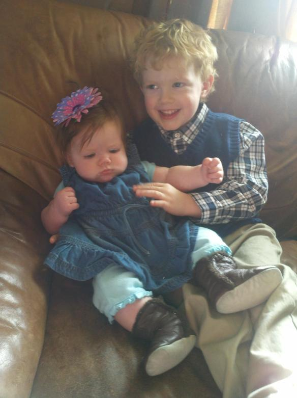 "My three-year-old happily asked to hold his newest cousin several times, ""Aww, she's so cute!"""