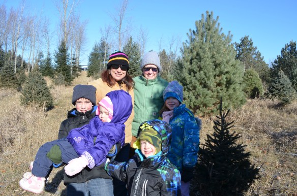 Part of our Christmas tree cutting crew at Van Norman's.