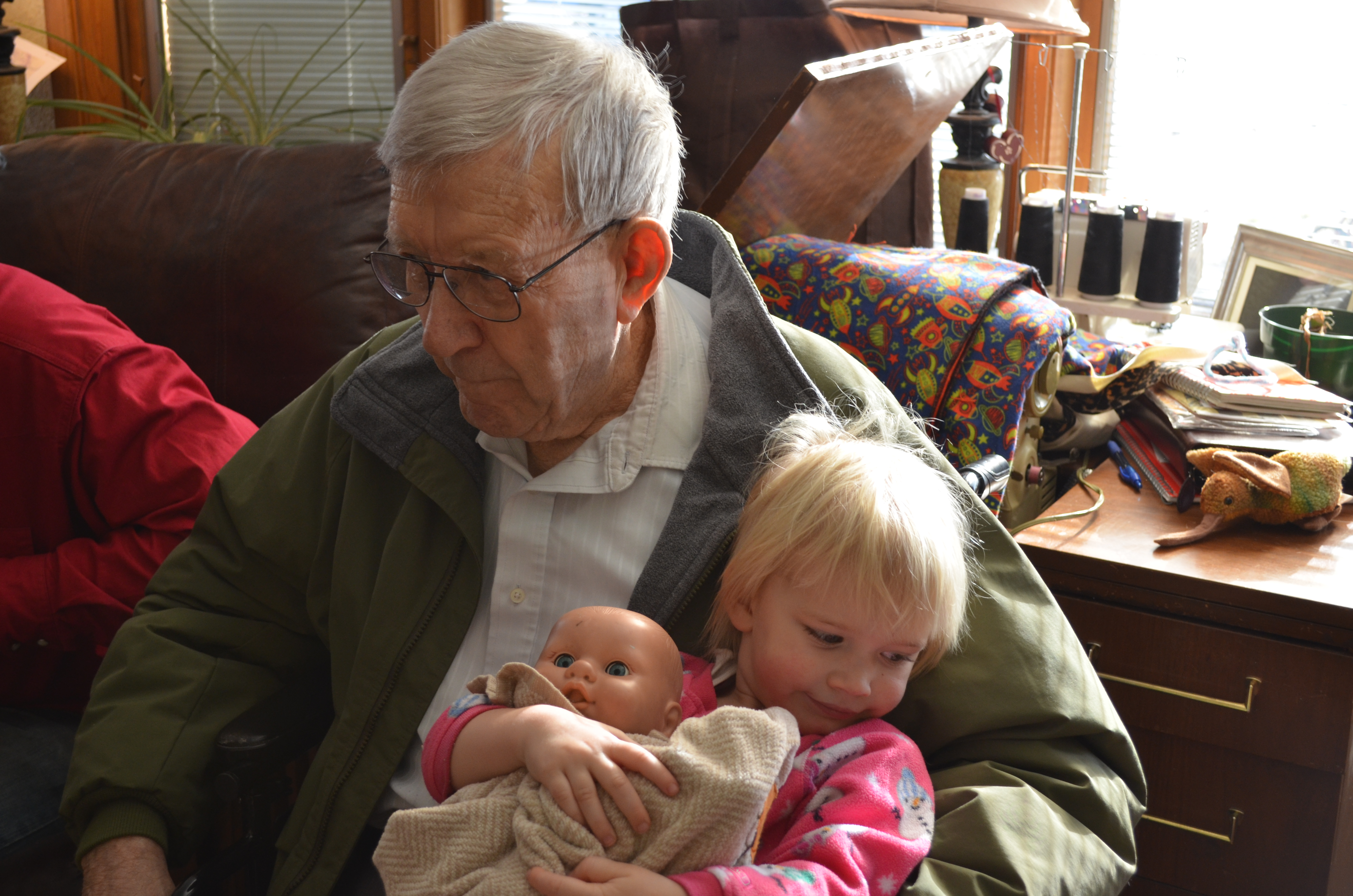 Bad Grandpa Ball Sack Being held by great grandpa
