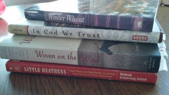 A new little stack of books from my husband's Grandma Grace is the inspiration for reading books for myself again.